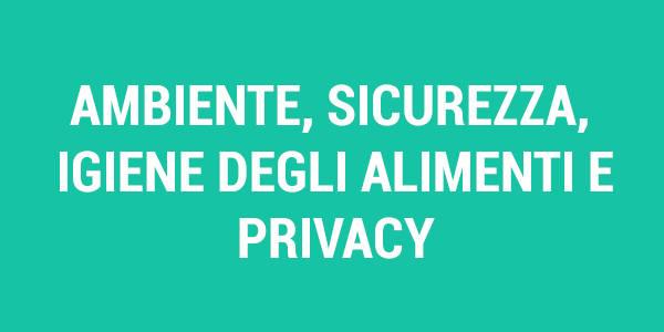 Tasto Ambiente Sicurezza Igiene delgi alimenti e privacy hover